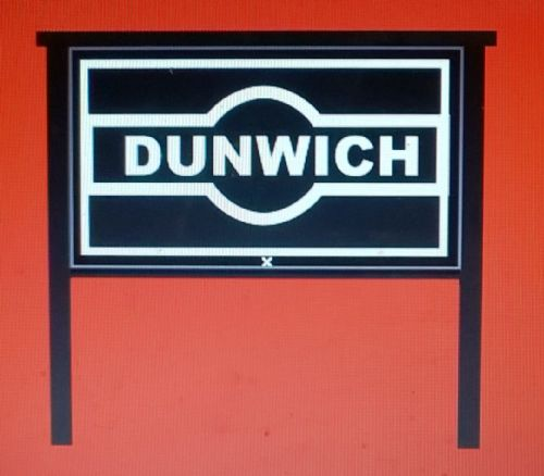 ARCHN0007 N Gauge Arch Laser Midland Station Nameboards (Hawkeye type) Pair